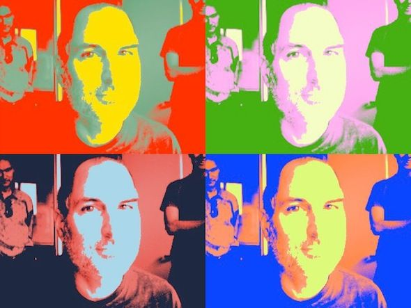 stevie goofing with Photo Booth  pop art☺
