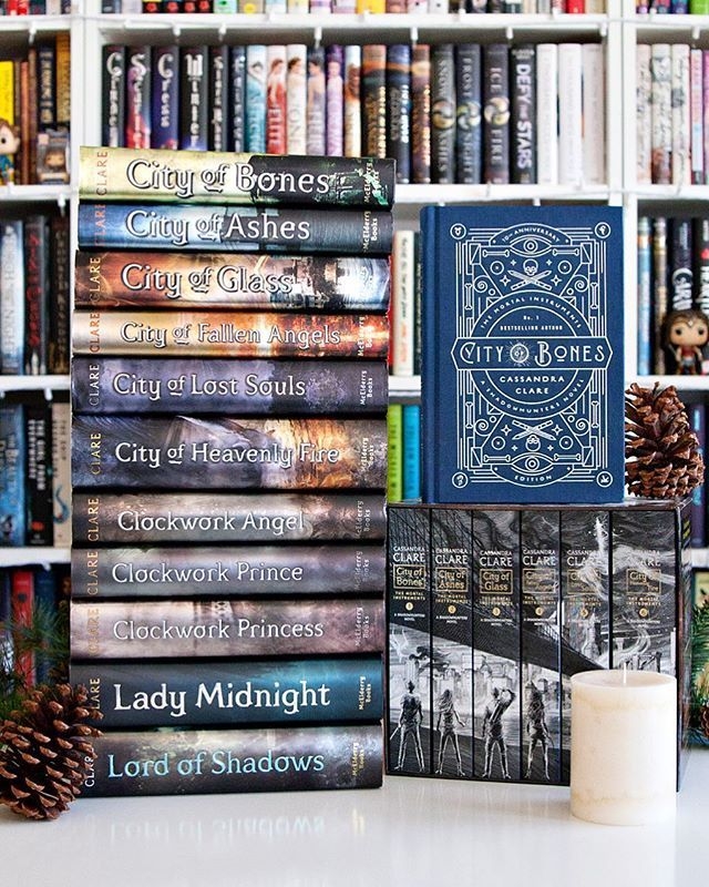 The Mortal Instruments series by Cassandra Clare w…