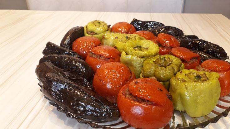 Dagilmayan Badimcan Bibər Pomidor Dolmasinin Sirri Yemek Reseptleri Youtube Diy Food Recipes Food Diy Food