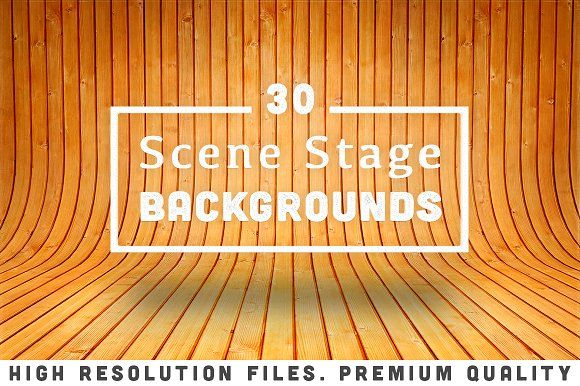 30 Scene Stage Backgrounds by sanches812 on @creativemarket