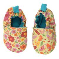 WeeChooze in Spring Garden Weechooze Baby Booties: Designed to delight tiny toes and engage little inquisitive minds, weechooze features CHOOZE's signature coordinating prints, stimulating colors, super soft microfiber lining, elasticized ankles, and non-slip soles. Available in 3 sizes: 0-6 months, 6-9 months, and 9-12 months.