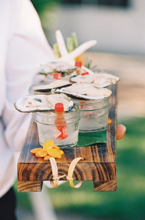 Individual oyster shooters = heaven