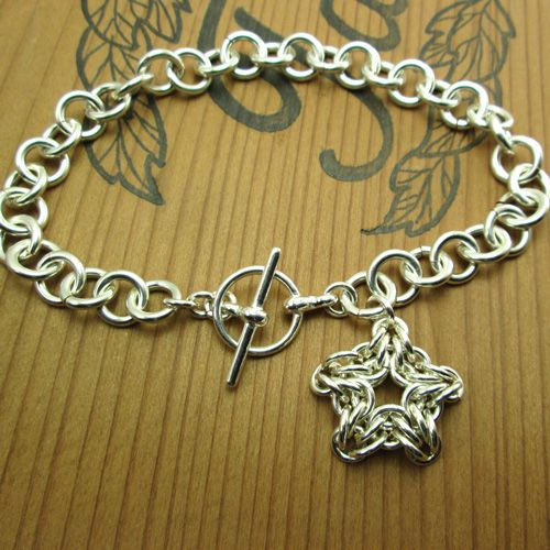 Northern Star Jump Ring Chain.  Free Step-by-Step Instructions.  Visit the website for step-by-step instructions, kits and supplies and other chainmail projects