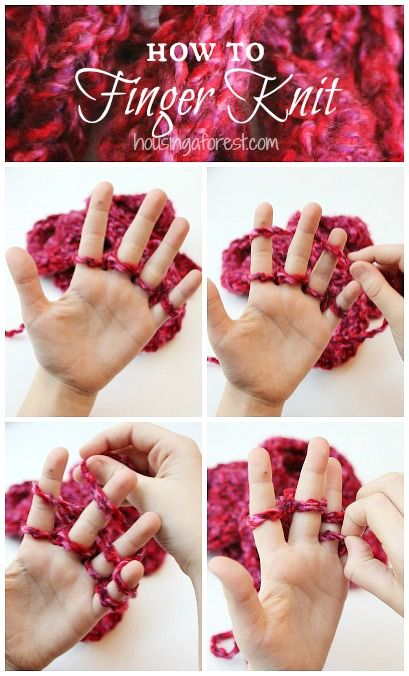 Finger Knitting Tutorial and easy Valentines Day Ideas