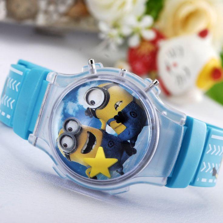 Fashion Casual Cartoon Watches Dial Quartz Wristwatch Kid Silicone Strap Children Watches - free shipping worldwide