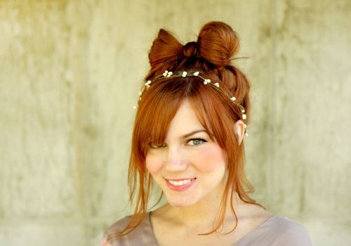 SO SWEET: Hairbow, Styles Glamour Eyes Lips Hairs, Vintage Hairstyles, Diy Hair Bows, Hairstyles 3, Redhead, Hair Styles Care, Top