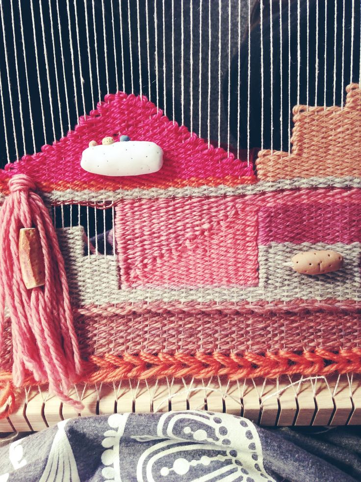 Weaving by Maryanne Moodie. Woven tapestry