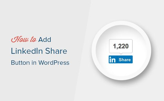 LinkedIn has announced the share buttons with count for publishers. Learn how you can add the LinkedIn Share Count Buttons in your WordPress blog posts.