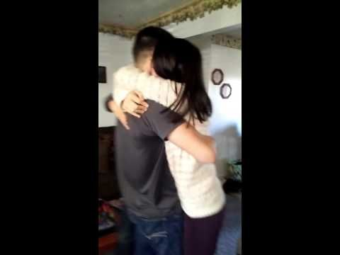 Soldier surprises little brother & sister