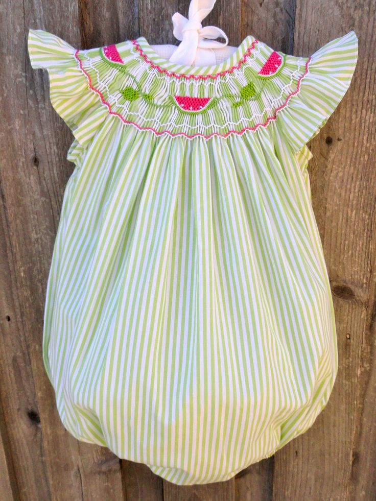 Watermelon Smocked Bubble- I am just in love with these cute bubbles.  Couldn't resist this one as well!