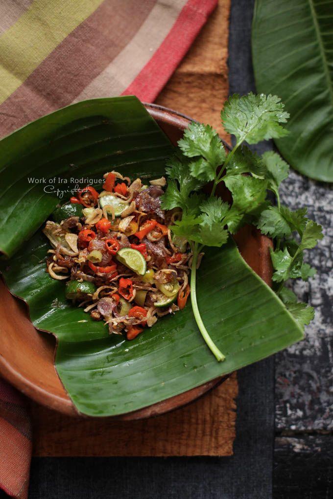 Crispy shallots sambal-Bali sambel mbe goreng