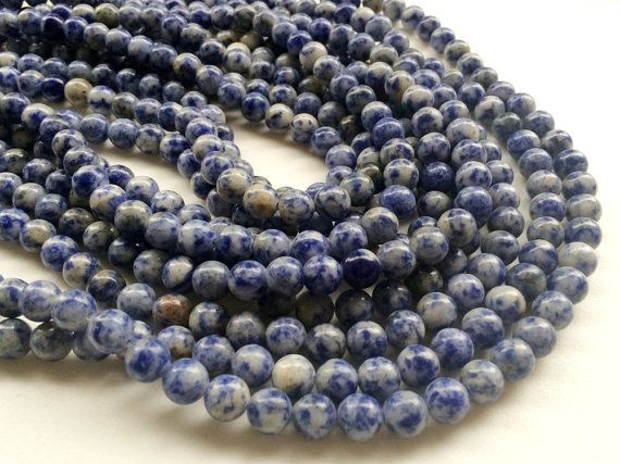 Sodalite Beads Natural Sodalite Smooth Round by gemsforjewels