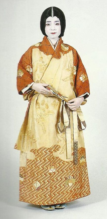 """Scan H1: Scan from book """"The History of Women's Costume in Japan."""" Scanned by Lumikettu of Flickr. Exacting recreation of Japanese costume many centuries ago…"""