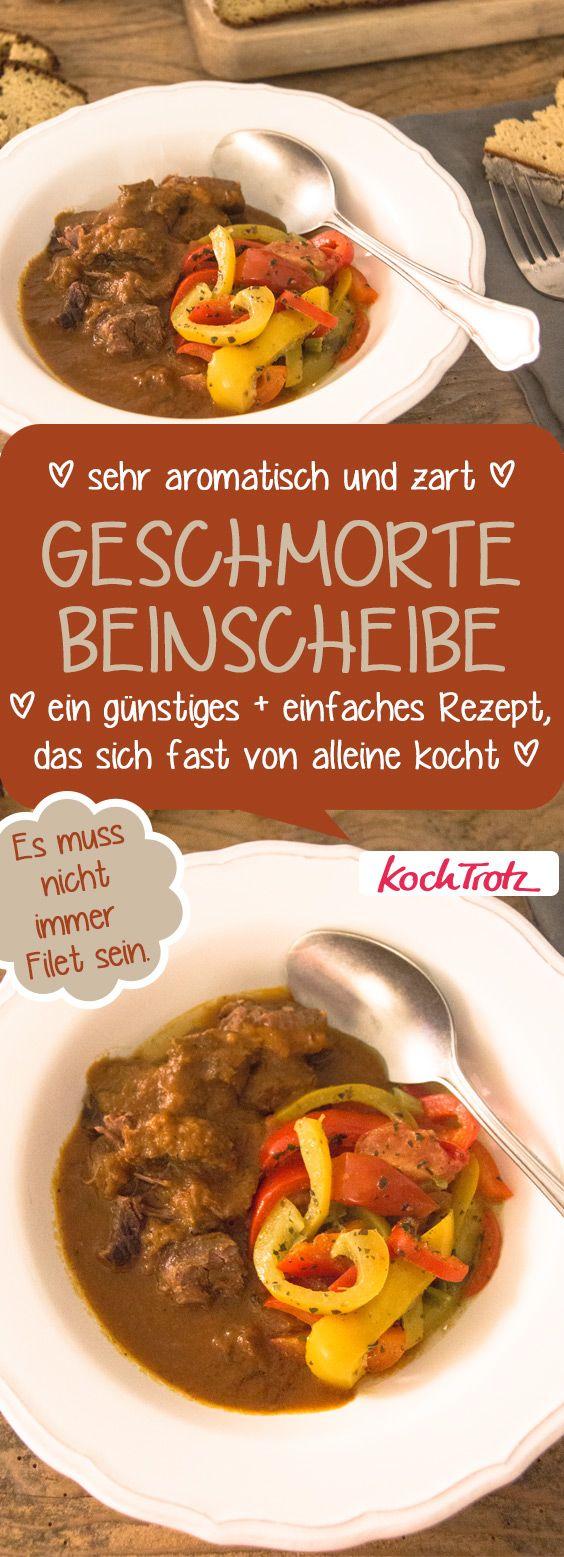Geschmorte Beinscheibe | günstig | einfach | köstlich | mit toller Sauce | klappt auch im Schnellkochtopf #geschmortes #beinscheibe #fromnosetotail #fleischgericht #schnellkochtopf #hausmannskost
