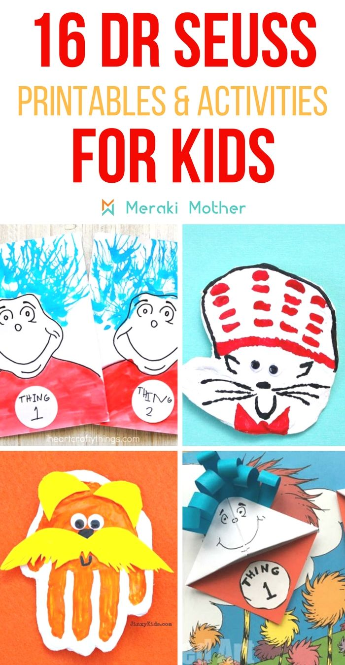 Fun And Easy Dr Seuss Crafts For Kids Dr Seuss Crafts Preschool
