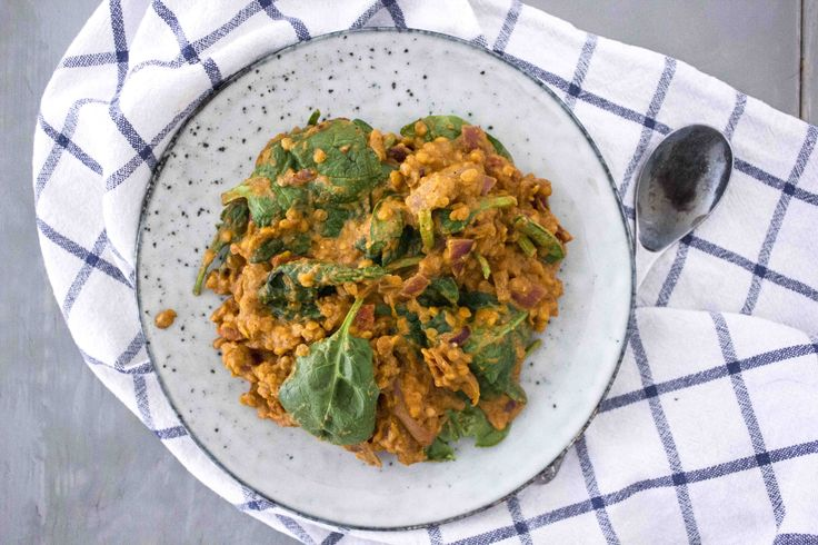 Lentils and spinach in Masala Sauce (Milumilai.dk)