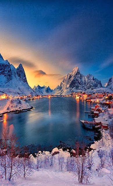 Winter Wonderland also known as Reine, Norway. travel norway winterwonderland reine