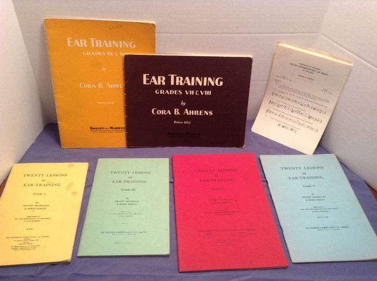 VTG Piano Music Books Lot of 6 & Royal Conservatory Old Tests,1950s,Ear Training