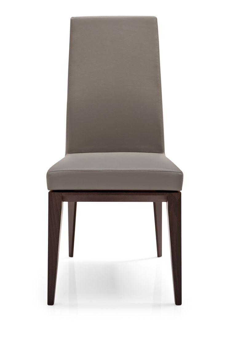 Gepolsterter Stuhl aus Holz mit hoher Rückenlehne BESS by Calligaris | Design S.T.C.