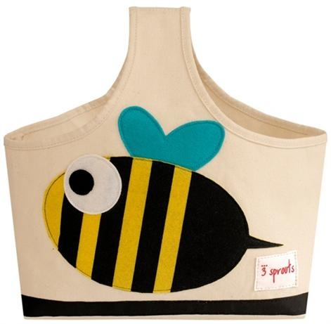 3 Sprouts Storage Caddy - Bee    Price: $29.95    Description:    The 3 Sprouts organic caddy is the perfect organizational solution.    Made of organic canvas and ecospun felt (recycled plastic bottles) this caddy is the perfect tote for all of those nursery items from nappies, wipes and lotions - all the items you need in one spot and ready to go. Better still, when Mum and Dad are finished with it, the 3 Sprouts caddy makes a perfect art tote for one's little Picasso. Now that's…