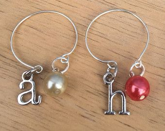 Wine Charm Set Sand Dollar Wine Glass Charms by ZealandBoutique