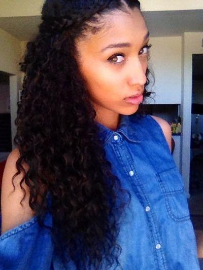 Best 25+ Curly hair braids ideas on Pinterest   Waterfall hair ...