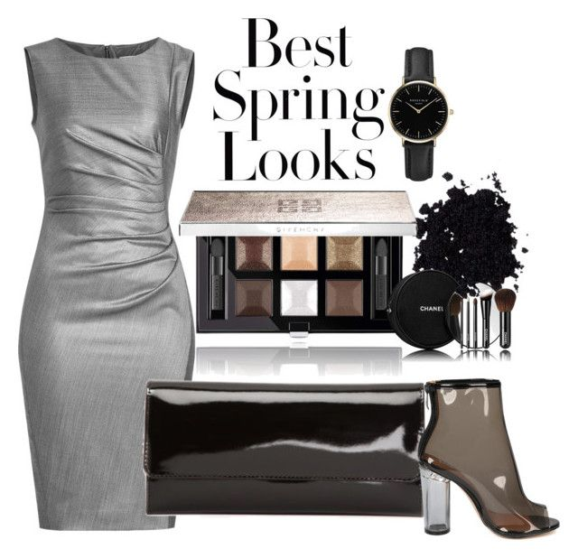 Grey by illetilmote on Polyvore featuring MaxMara, ROSEFIELD, Givenchy, Chanel and H&M