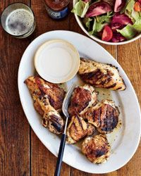 Big Bob Gibson's Chicken with White Barbecue Sauce. Photo © Marcus Nilsson