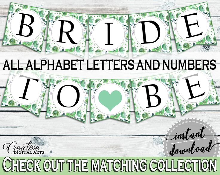 Banner Bridal Shower Banner Botanic Watercolor Bridal Shower Banner Bridal Shower Botanic Watercolor Banner Green White prints, party 1LIZN #bridalshower #bride-to-be #bridetobe