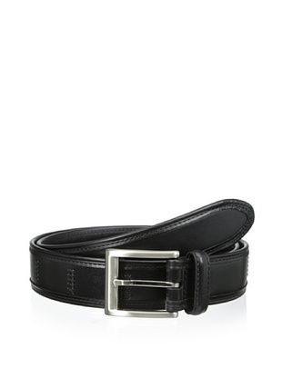 54% OFF Trafalgar Men's Leather Stitched Belt (Black)