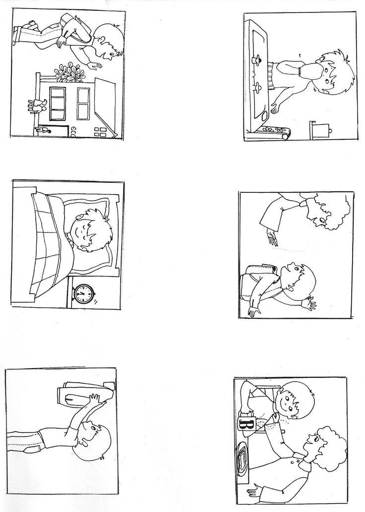 """Images séquentielles """"Une journée d'école"""" (6 images) - Rédaction au primaire"""