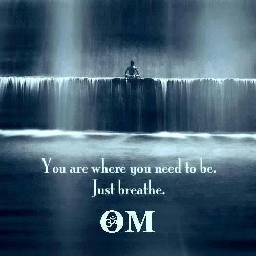 You are where you need to be. Just breath.