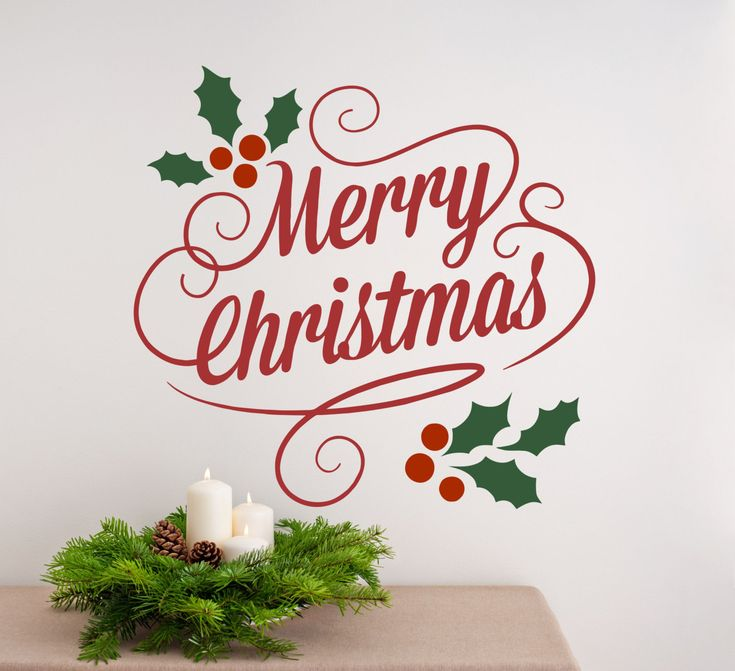 13 Best Christmas Vinyl Wall Decal Images On Pinterest | Christmas .