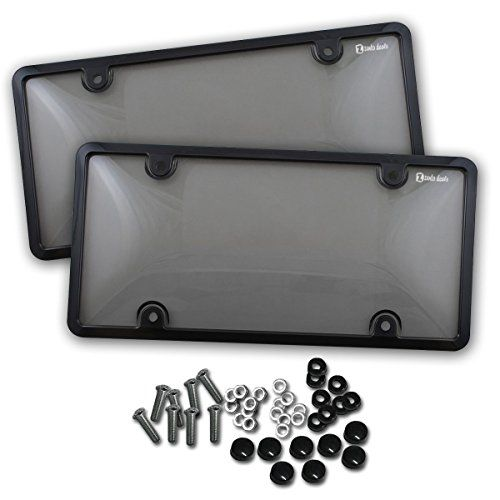Zento Deals 2 Pieces of Unbreakable License Plate Shield Covers-Smoke-Tinted Shield Black-Fits All Standard 6x12 Inches Novelty/License Plates - Zento Deals 2 Pieces of Unbreakable License Plate Shield Covers-Smoke-Tinted Shield Black-Fits All Standard 6x12 Inches Novelty/License Plates ✺The Zento Deals License Plate Shield Covers are are smoke bubbled design -not too light, not too dark and will gives your car a sleeker look. An e...