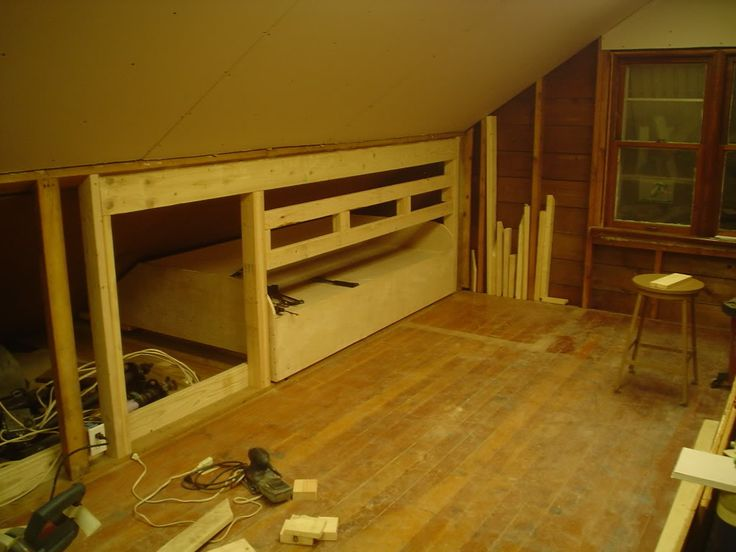 Kneewall pull out bed