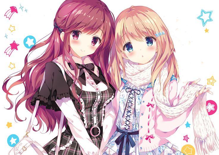 Cute anime girls friends anime wallpaper pinterest - Best anime wallpaper 2016 ...