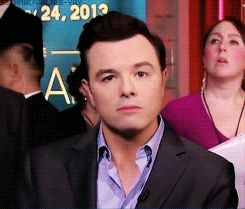 sethmacfarlanelover: ohsethmacfxckme: sethmacfarlane-yay: [x] There is quite literally, no man better than Seth MacFarlane, the intelligent little fucker. Haha the first gif made me chuckle
