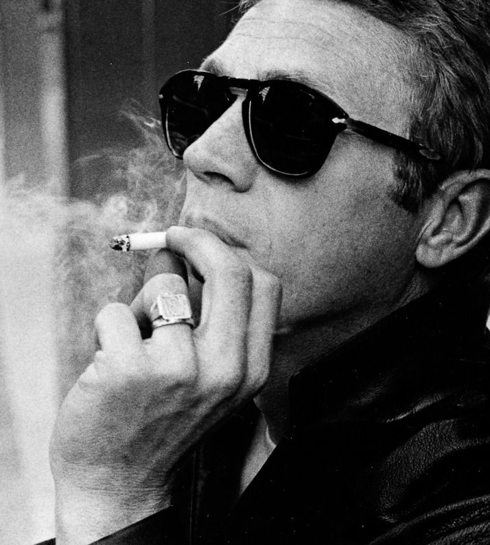 Steve McQueen - yes, I think Paul Newman was hotter *ducks head* but McQueen was COOL...