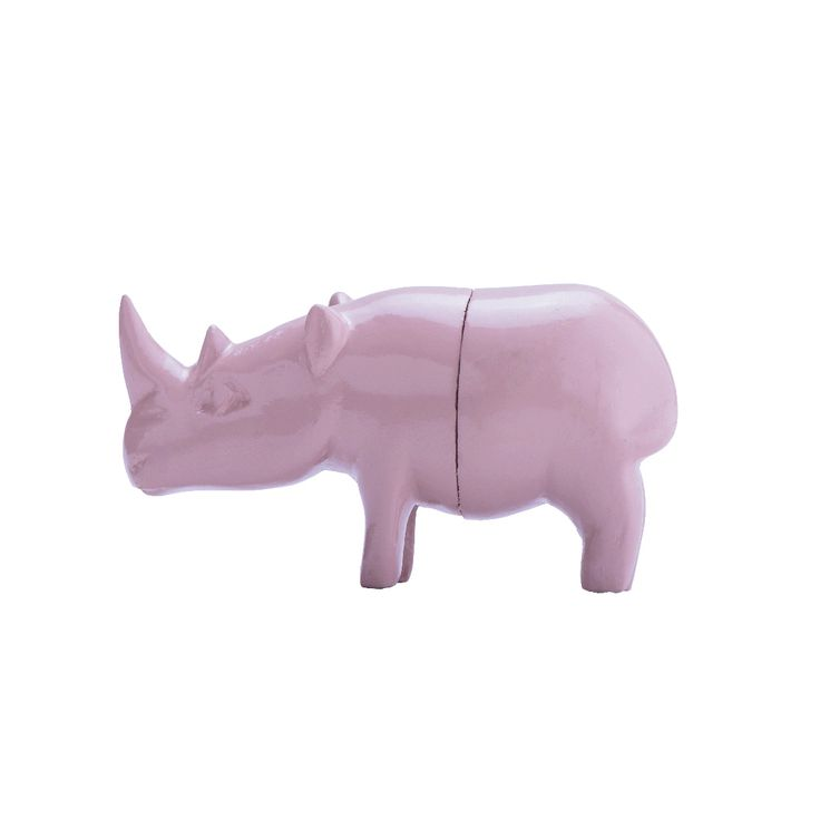 Wooden Rhino Magnet