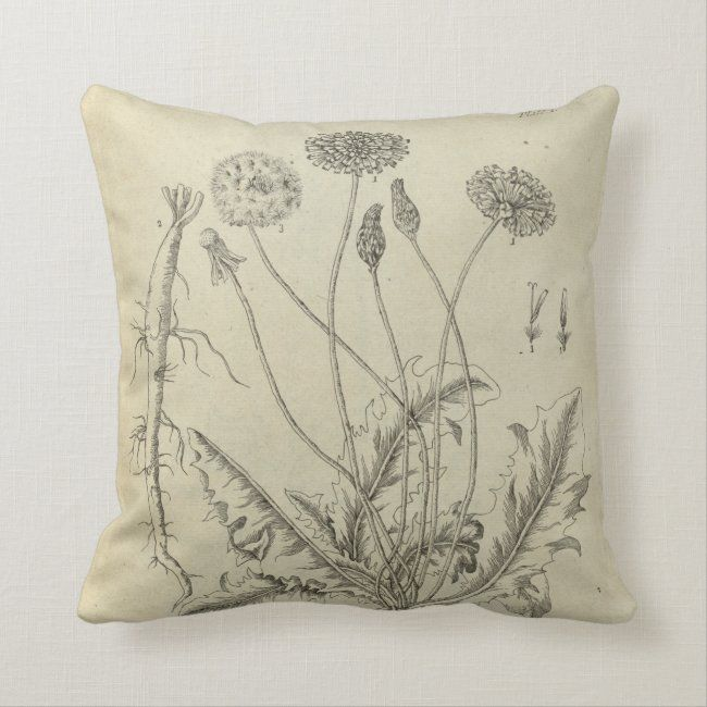 Dandelion Throw Pillow Zazzle Com Throw Pillows Pillows Custom Pillows