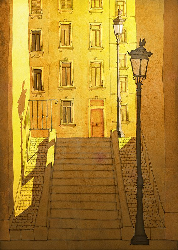 Paris illustration Shine Paris MontmartreArtFine art by tubidu