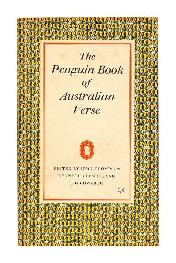 The Penguin Book of Australian Verse, Penguin Poets. 1958. Available to buy from www.brindled.co.uk