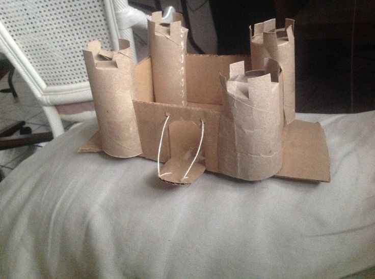 Today I made a cardboard castle with a working Drawbridge, I will make a gif of the drawbridge  To