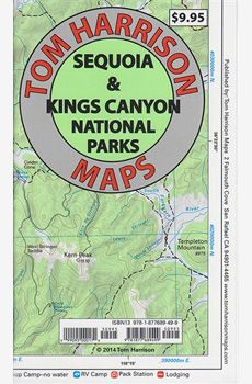 The entire parks. Sequoia and Kings Canyon National Parks Recreation Maps in beatiful colors printed on waterproof and tear resistant material