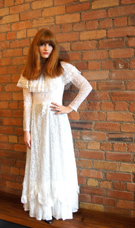 Vintage lace wedding maxi festival boho dress #vintage #wedding #maxidress #boho #festival