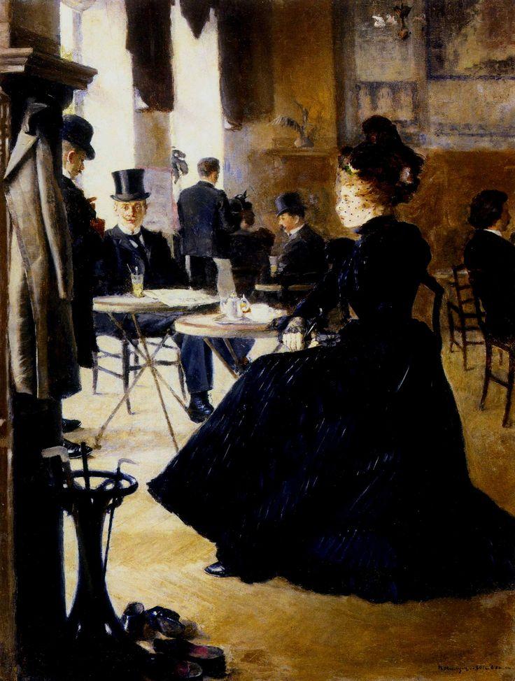 П. Нилус. В кафе. 1901. Днепропетровский художественый музей