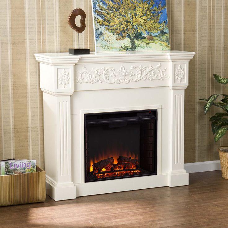 "44.5"" Holly & Martin Huntington Electric Fireplace-Ivory"