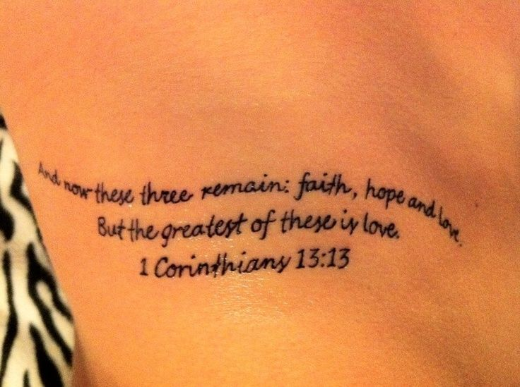1 corinthians 13:13 tattoo - Google Search