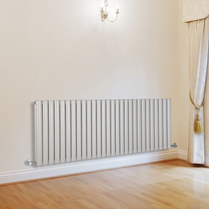 Milano Aruba - Luxury White Horizontal Designer Double Radiator 635mm x 1647mm