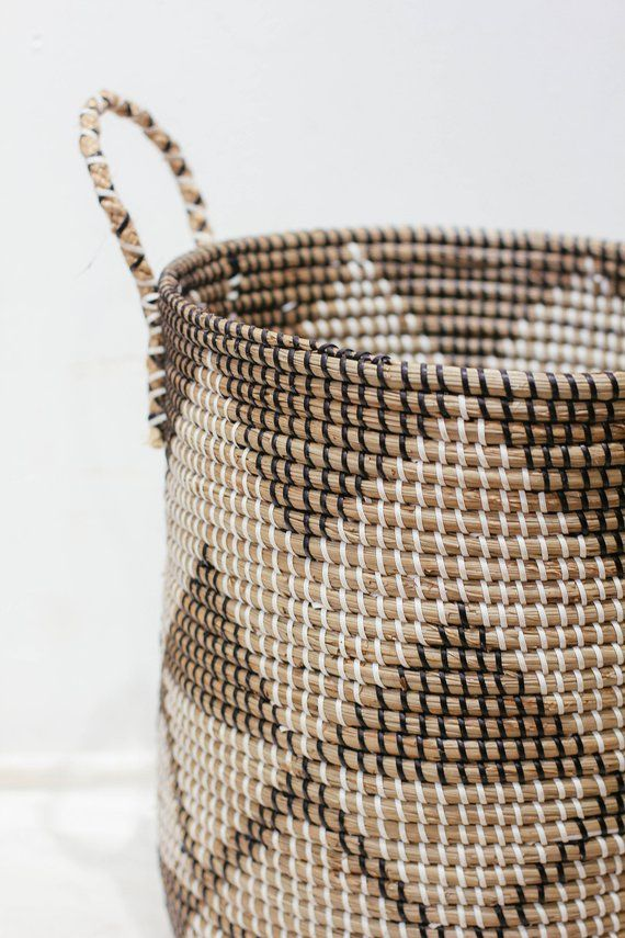 Diamond Handwoven Laundry Big Basket With Handle Handmade Etsy